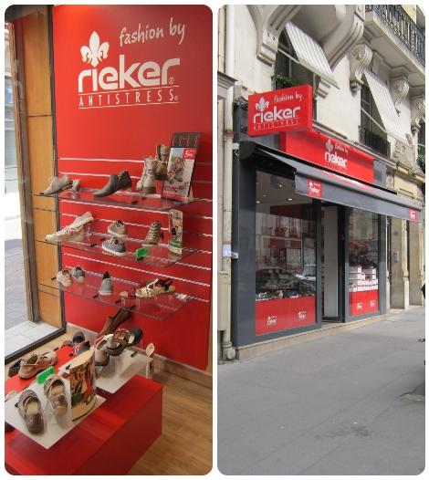 magasin rieker à bourges et à Paris Vaugirard