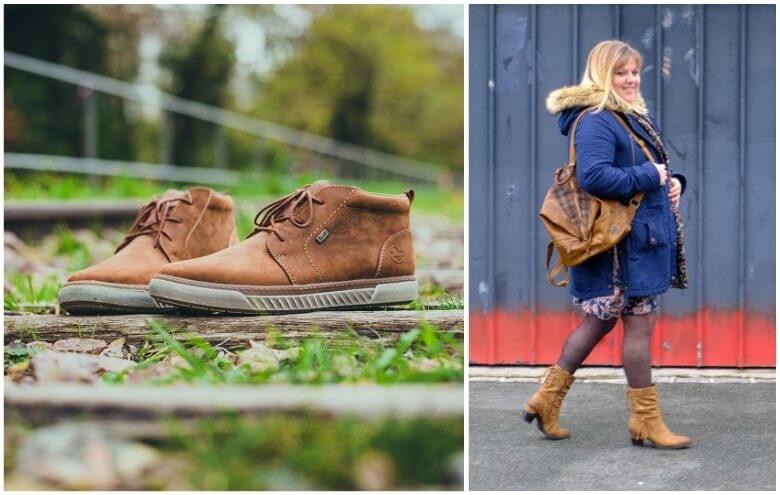 Look d'hiver avec nos chaussures RIEKER