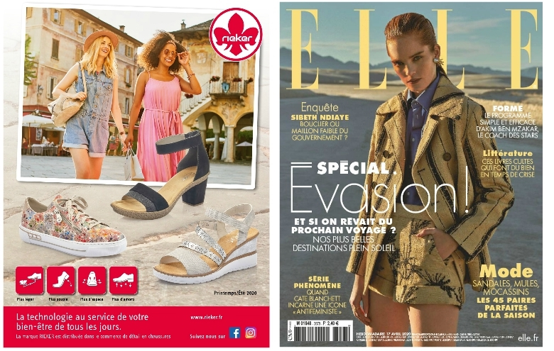 Communication RIEKER nationale dans le magazine ELLE du 17 avril 2020