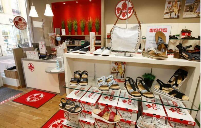 L'intérieur du nouveau magasin rieker de metz, photo extraite du Lorrain républicain